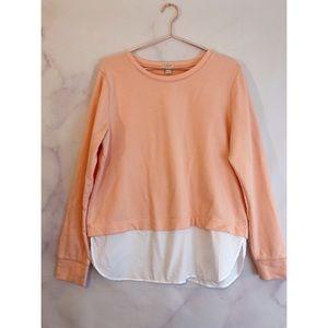 J.Crew Factory Shirttail Hem Sweatshirt